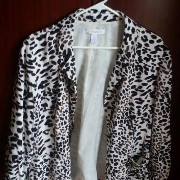 cbf45cd5a200 Chico's Jackets & Coats | Chicos Womens Animal Print Blazer Size 2 ...